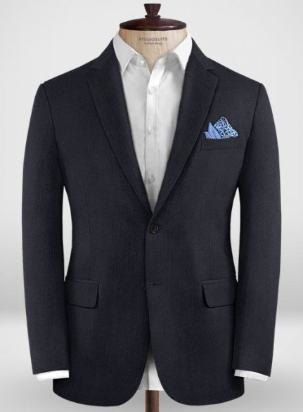 Zegna Trofeo Dark Blue Wool Jacket