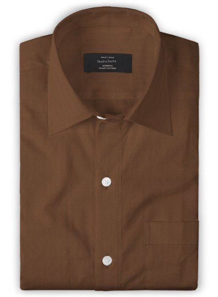 Giza Rust Cotton Shirt