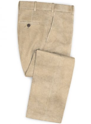 Light Beige Thick Corduroy Pants