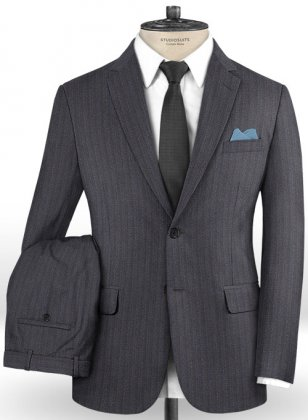 Caccioppoli Dapper Dandy Blezzi Gray Blue Suit