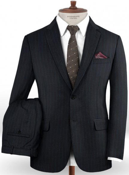 Charles Clayton Cursia Blue Wool Suit