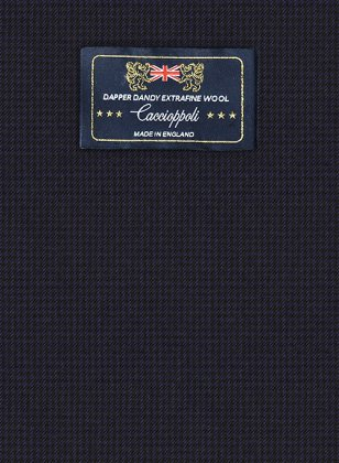 Caccioppoli Dapper Dandy Chillo Dark Blue Suit