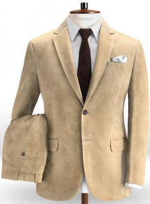 Light Khaki Corduroy Suit