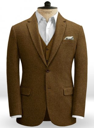 Royal Brown Heavy Tweed Jacket