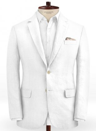 Pure White Linen Jacket