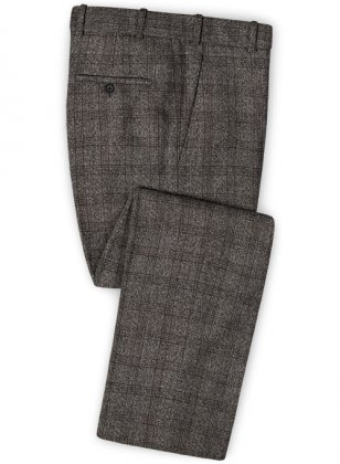 Saga Charcoal Feather Tweed Pants