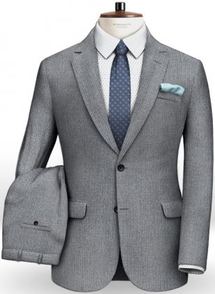 Gray Thick Corduroy Suit