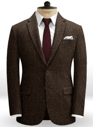 Basket Weave Brown Tweed Jacket