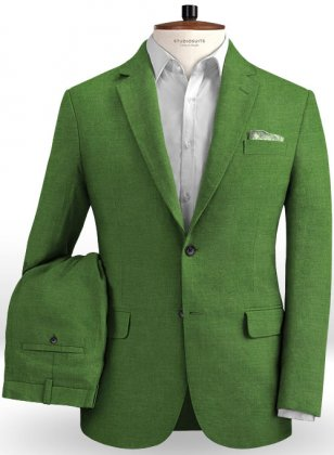Zod Green Pure Linen Suit