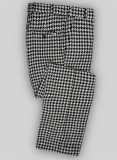 Big Houndstooth BW Tweed Pants