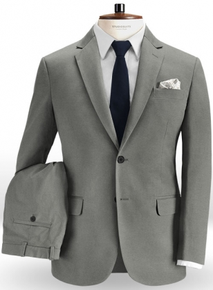 Mid Gray Peach Finish Chino Suit