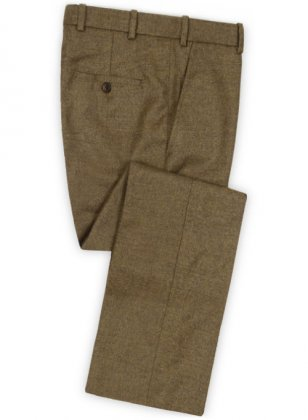 Light Weight Rust Brown Tweed Pants