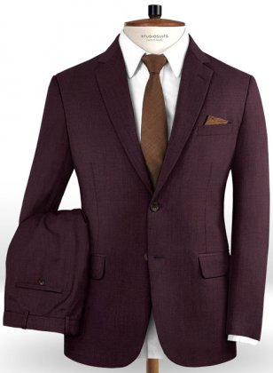 Reda Wine Pure Wool Suit