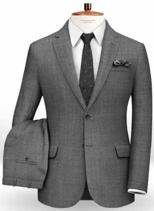 Birdseye Wool Gray Suit
