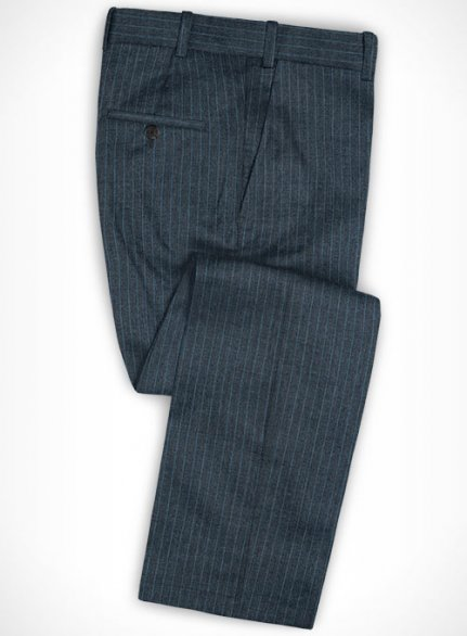 Cotton Alleo Blue Pants