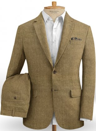 Italian Royal Brown Linen Suit
