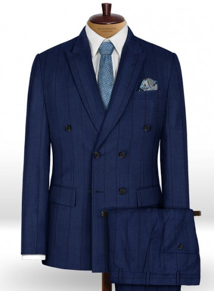 Napolean Rodrio Royal Blue Wool Suit