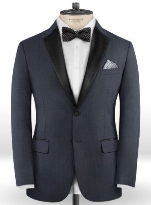Napolean Highball Blue Wool Tuxedo Jacket