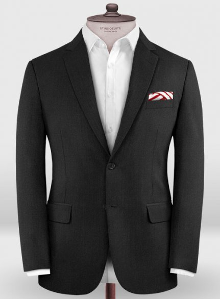Zegna Trofeo Black Wool Jacket