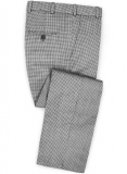 Dogtooth Wool Light Gray Pants