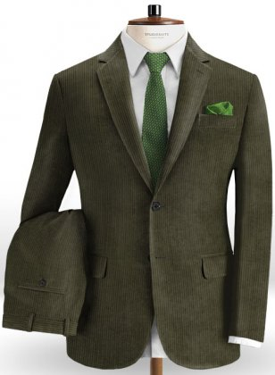 Olive Thick Corduroy Suit