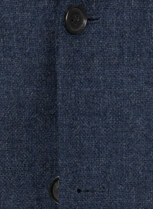 Vintage Rope Weave Dark Blue Tweed Jacket
