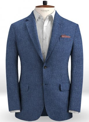Solbiati Denim Mid Blue Linen Jacket