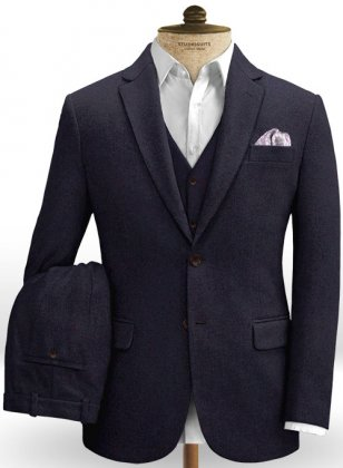Dark Violet Heavy Tweed Suit