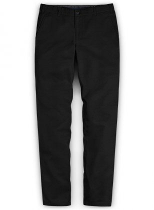 Washed Summer Weight Black Chinos