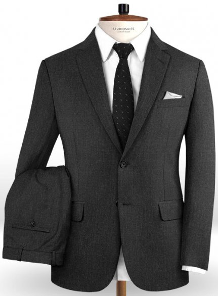 Reda Charcoal Pure Wool Suit