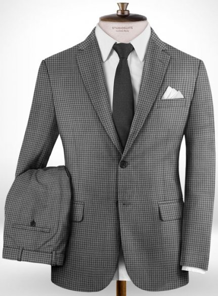 Napolean Cozy Gray Wool Suit