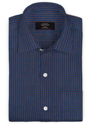 Giza Blue Lagoon Cotton Shirt
