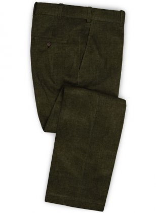 Olive Green Corduroy Pants
