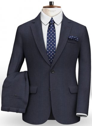 Napolean Sombre Blue Wool Suit
