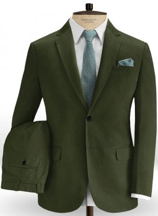 Heavy Olive Chino Suit