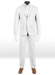 Tropical White Linen Suit