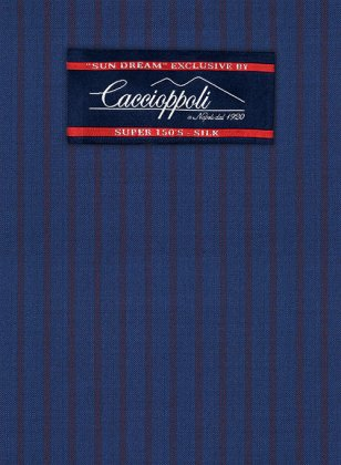 Caccioppoli Sun Dream Calgio Royal Blue Suit