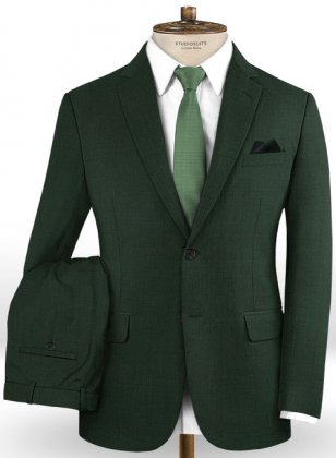 Stretch Green Wool Suit