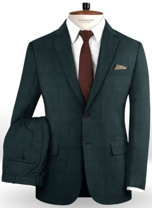 Napolean Charles Green Wool Suit