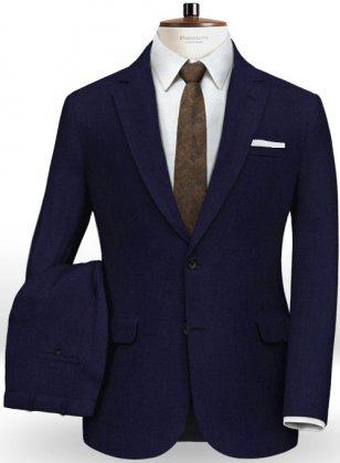 Italian Blue Wool Suit