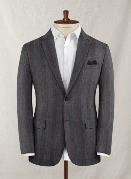 Charles Clayton Ironne Gray Checks Wool Jacket
