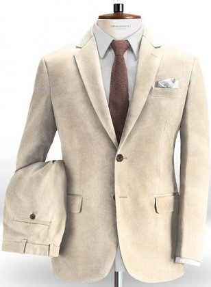 Light Beige Corduroy Suit