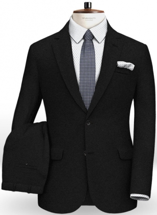 Reda Flannel Black Pure Wool Suit