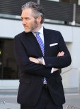 Navy Blue Merino Wool Jacket