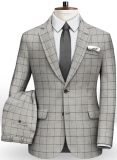 Light Weight Checks Light Gray Tweed Suit