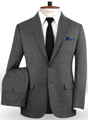 Napolean Gray Pinhead Wool Suit