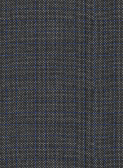 Napolean Nailhead Box Gray Wool Suit