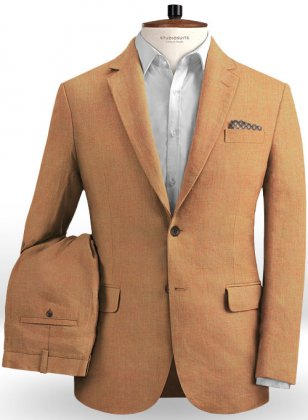 Pure Zod Orange Linen Suit