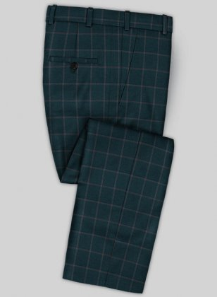 Scabal Mosaic Toluin Green Wool Pants