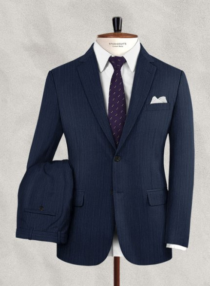 Reda Cierno Blue Wool Suit